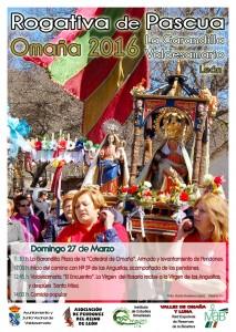 VALDESAMARIO. Cartel Rogativa - Omaña - Valdesamario-La Garandilla 2016