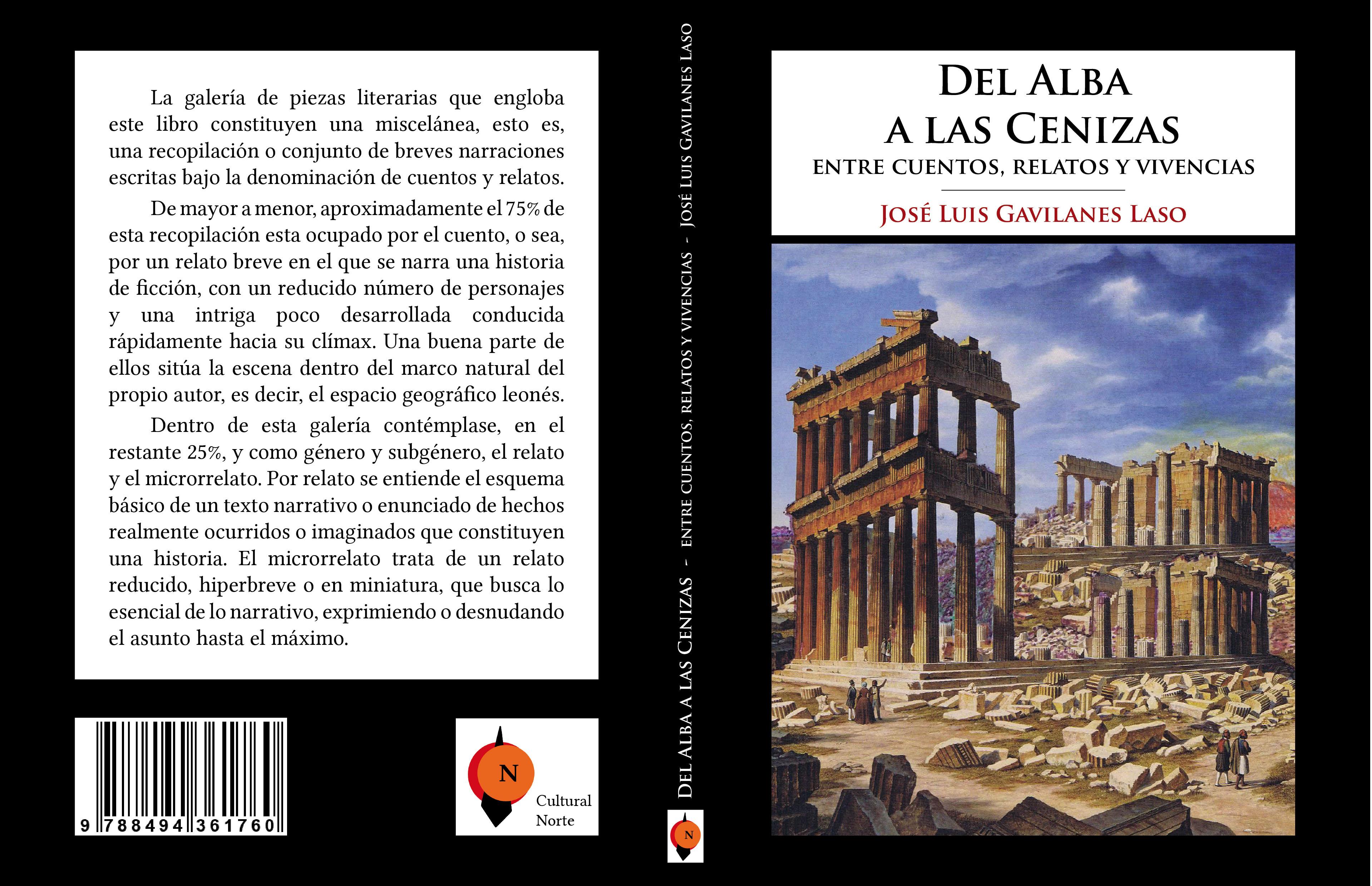 CARATULA LIBRO DEL ALBA A LAS CENIZAS