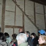 Entramado de madera en muros del palacio