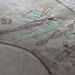Pinturas en un nicho escondido trea el altar mayor