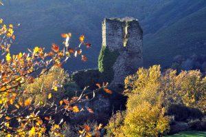 Romántico aspecto de las ruinas del castillo de Balboa.