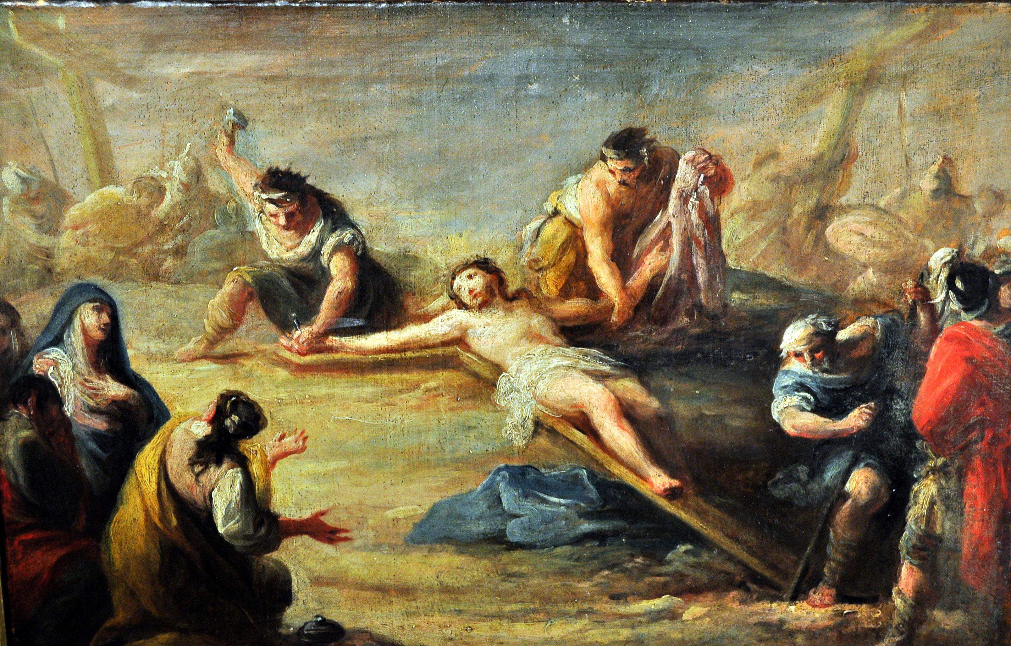 CRUCIFIXIÓN. Salvador Maella (S. XIX). Procede de Villabalter