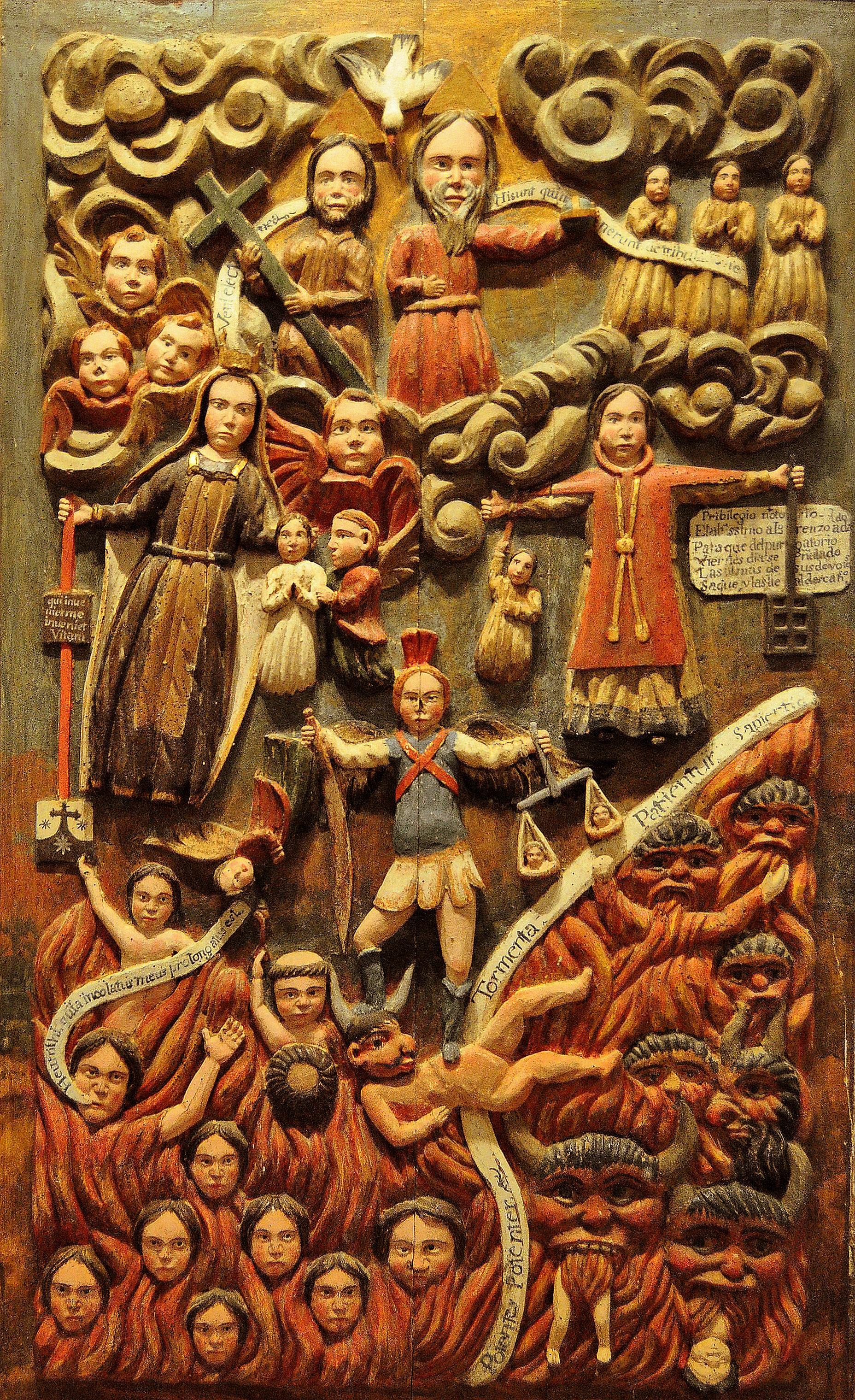 CUADRO DE ÁNIMAS. (S. XVIII). Procede de Valdavida.