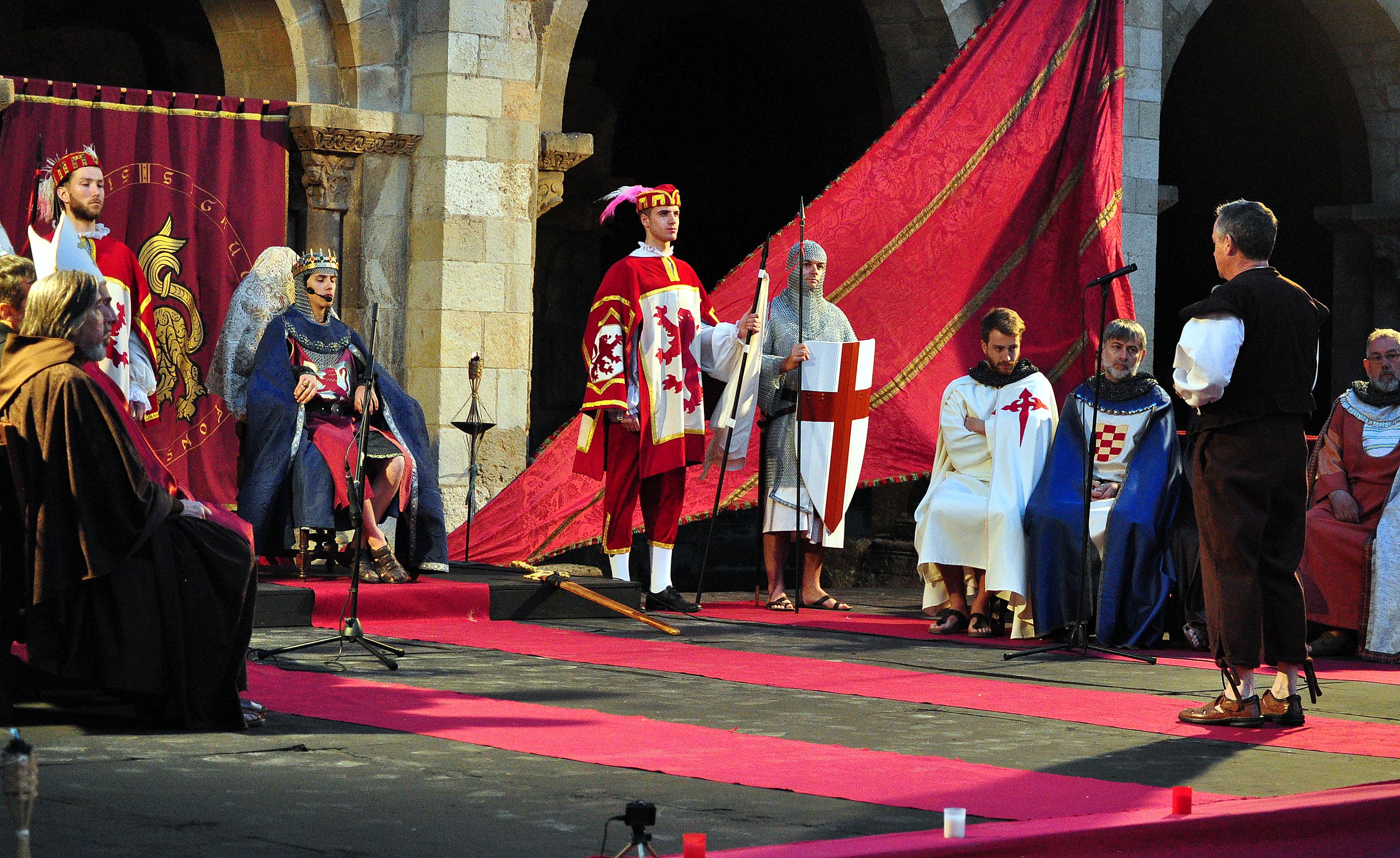 Representación de las Cortes de 1188 en San Isidoro (Foto David Gustavo López 2016)