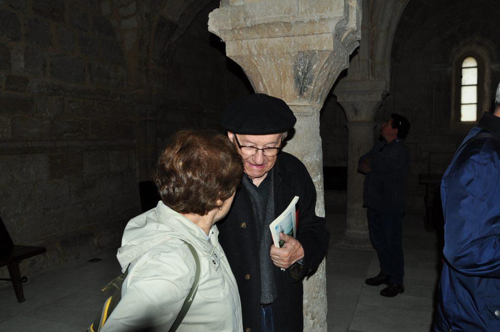 Con el P. Martino en el refectorio de la Santa Espina.