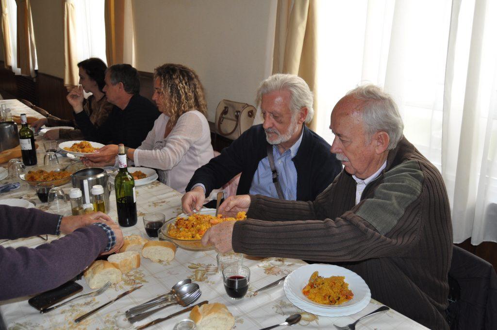 Durante la comida.