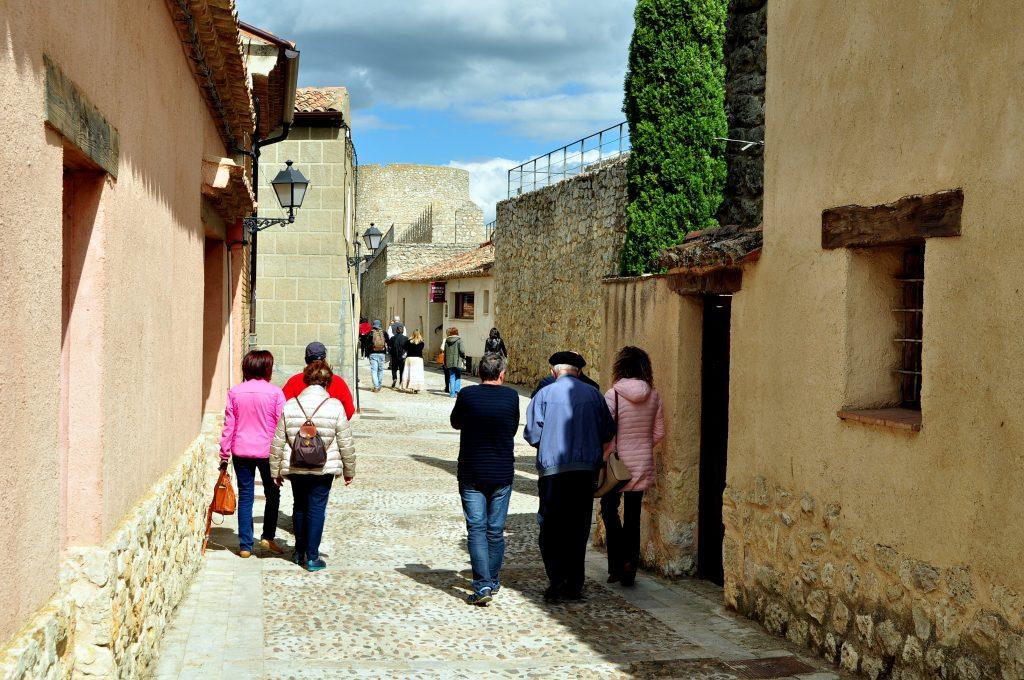 Una calle de Urueña.
