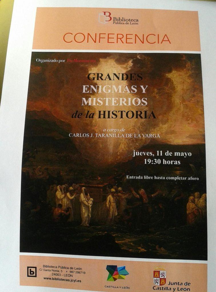 PROMONUMENTA. Conferencia gRAndes enigmas de la historia. 2017