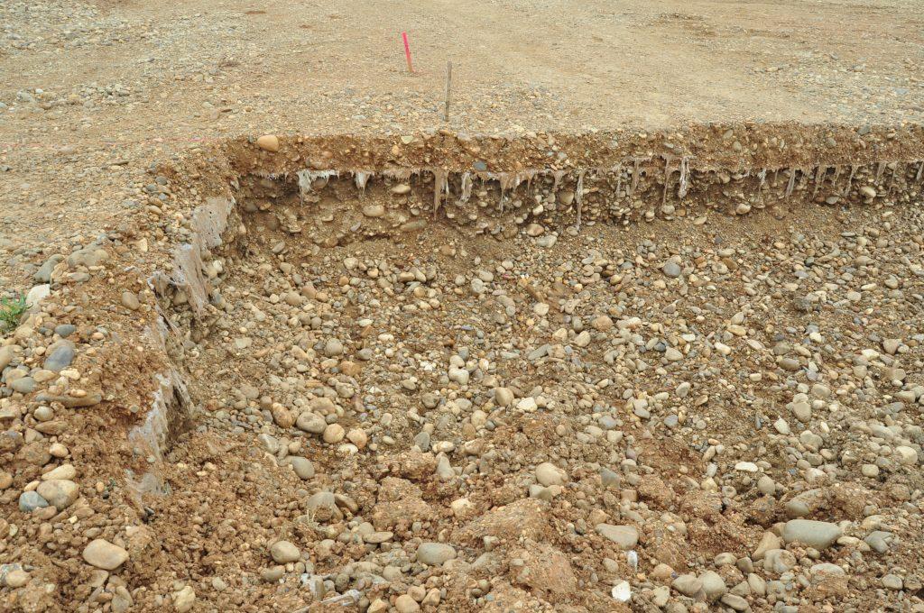 Otra cuya excavación se está iniciando.