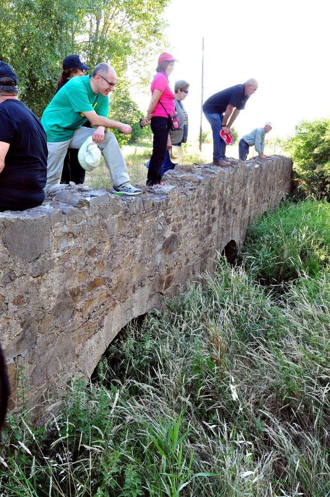 Puente de la calzada sobre el arroyo Peces, en Palacios de la Valduerna.
