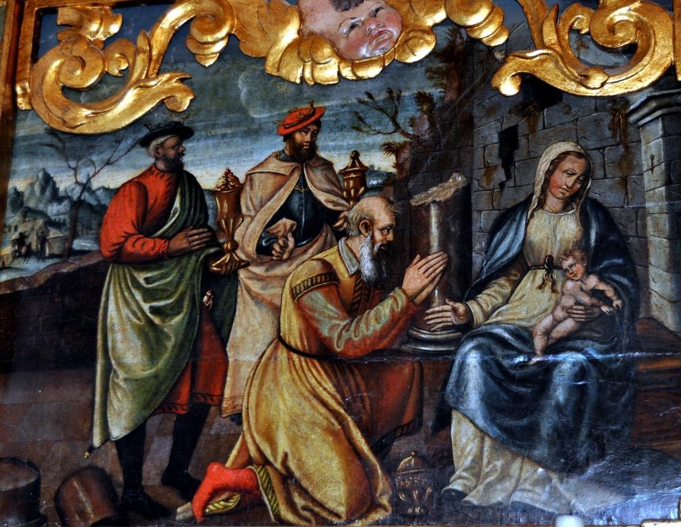 Retablo de La Vecilla. Adoración de los Reyes.