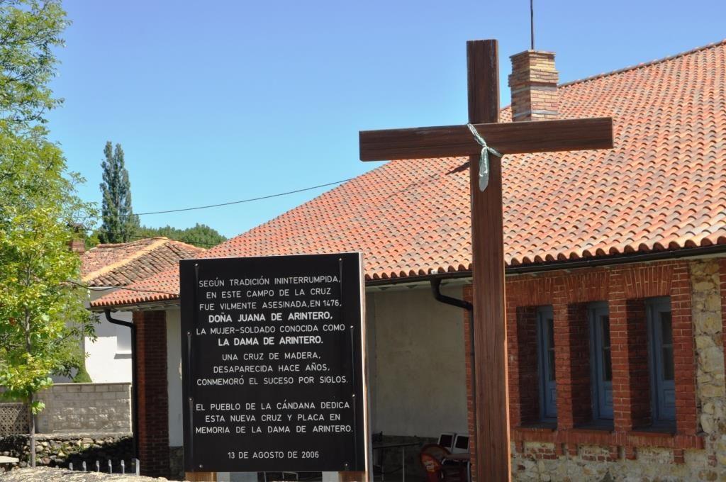 La Cándana de Curueño. Inscripción conmemorativa del asesinato de la Dama de Arintero