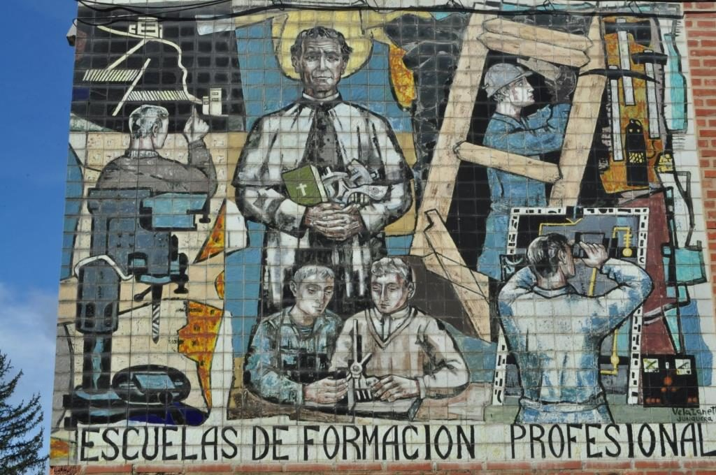 Vela Zanetti. Mural sobre azulejos.