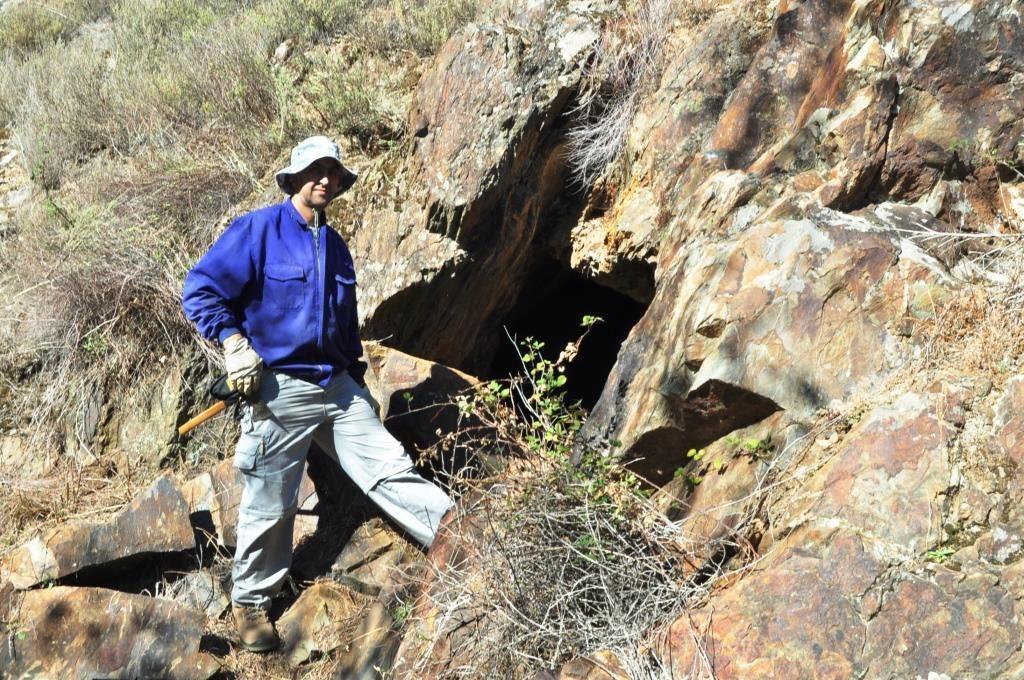La boca de la mina de Rioseco.