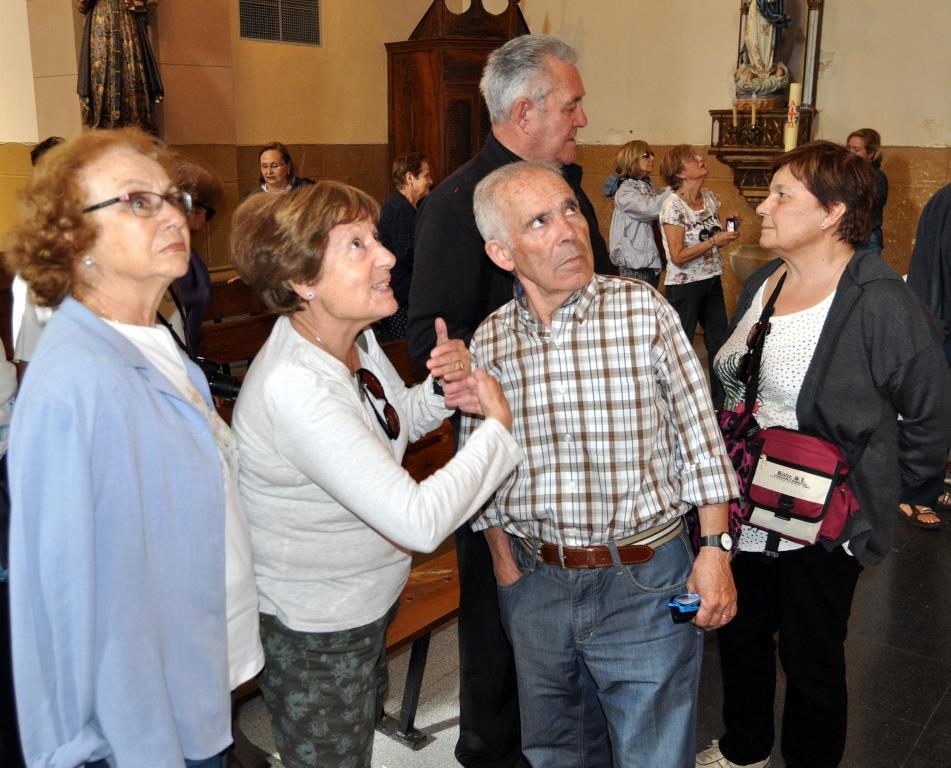Comentando la iglesia de Otero de las Dueñas.
