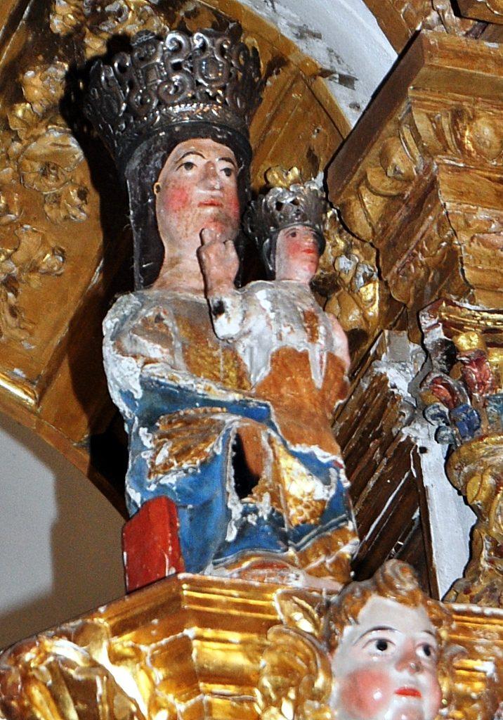 La Virgen de Pandorado en su camarín.