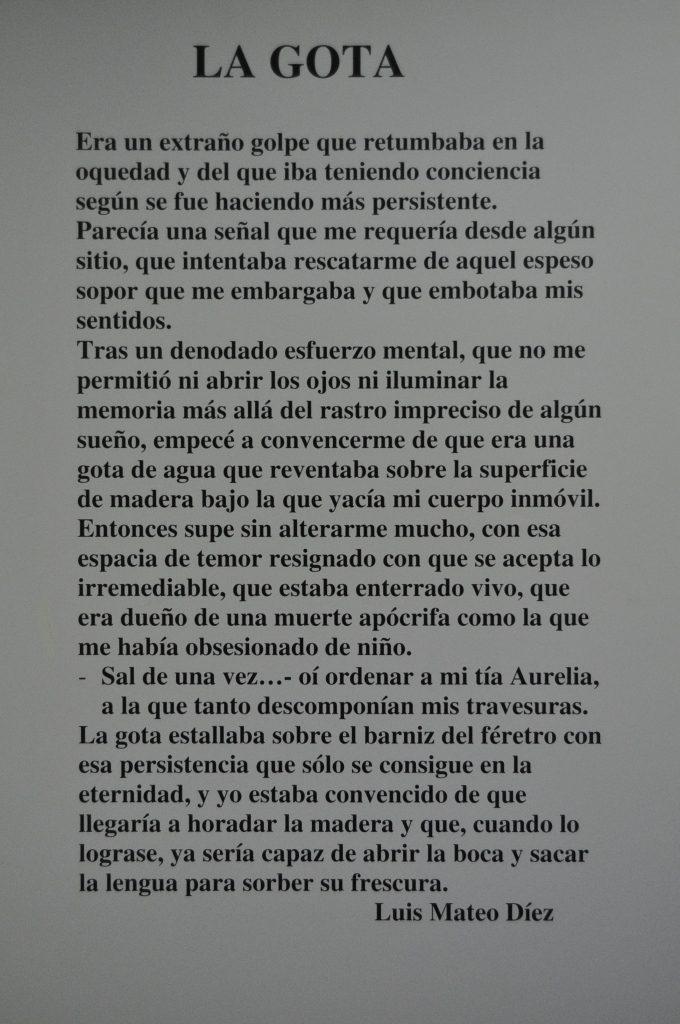 Texto de Luis Mateo Díez a la anterior pintura de Gemma.