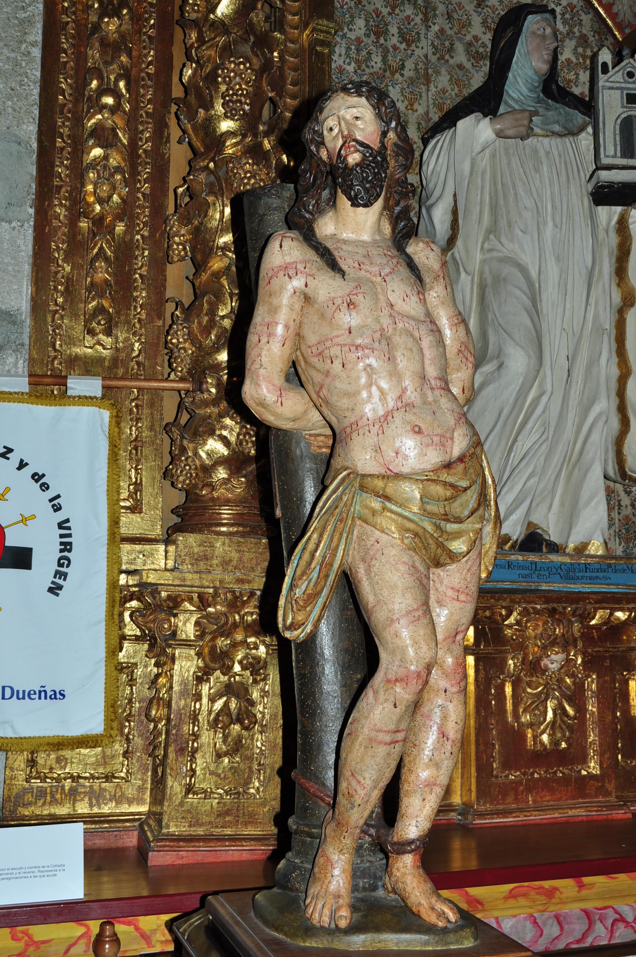 Ecce Homo del Siglo XVII, obra de Gregorio Español o escuela. Procesiona el dia de Jueves Santo en San Miguel de las Dueñas.