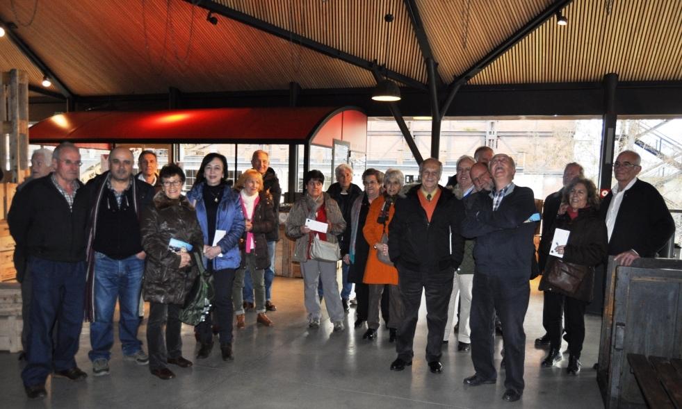 En la recepción del Museo de la Energia.
