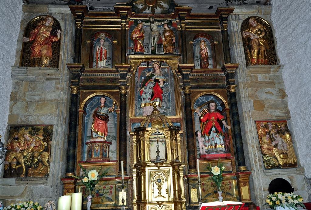 Retablo de la iglesia de Santa Dorotea, en Colinas.