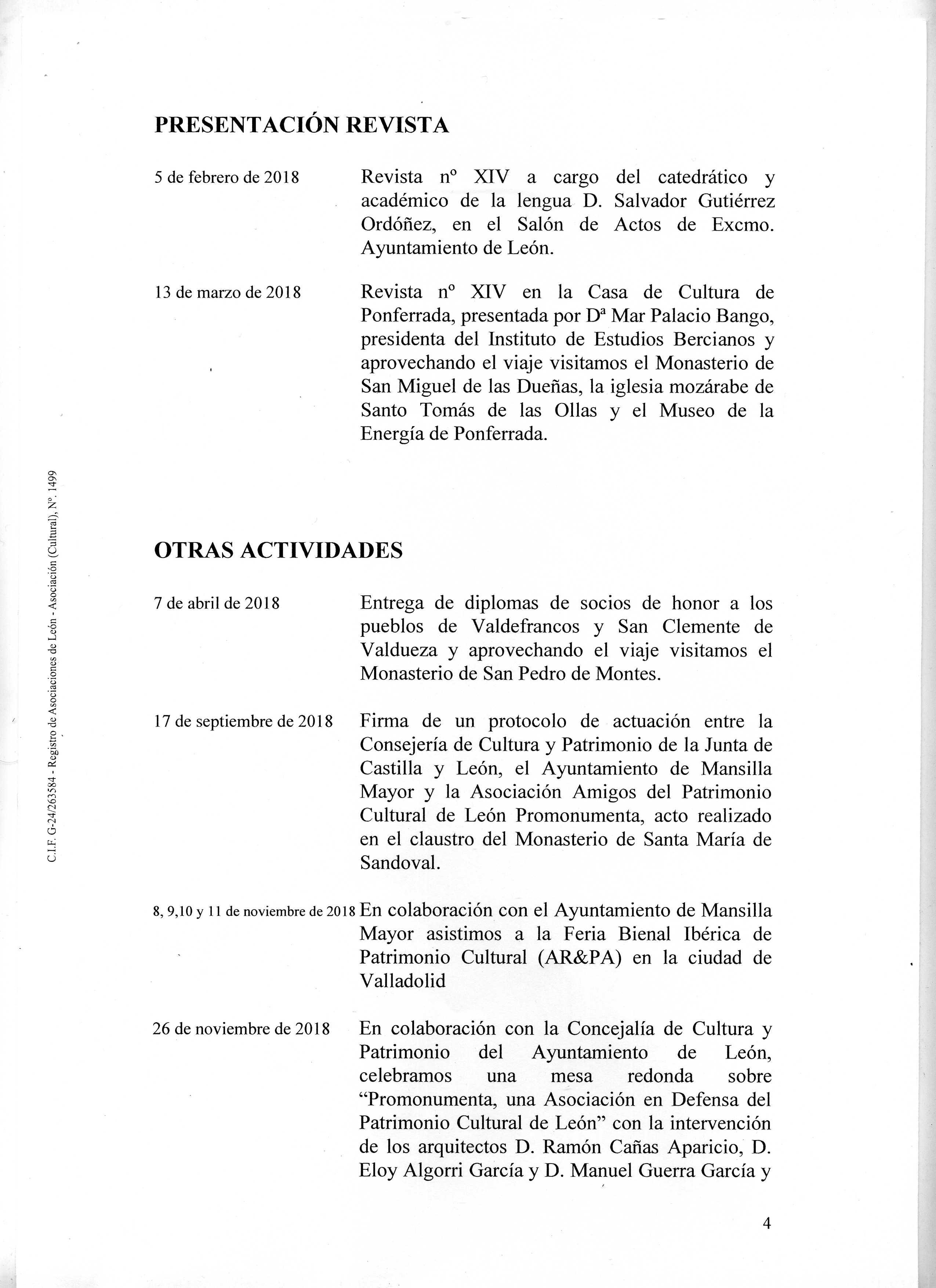 PROMONUMENTA ACTIVIDADES 2018004