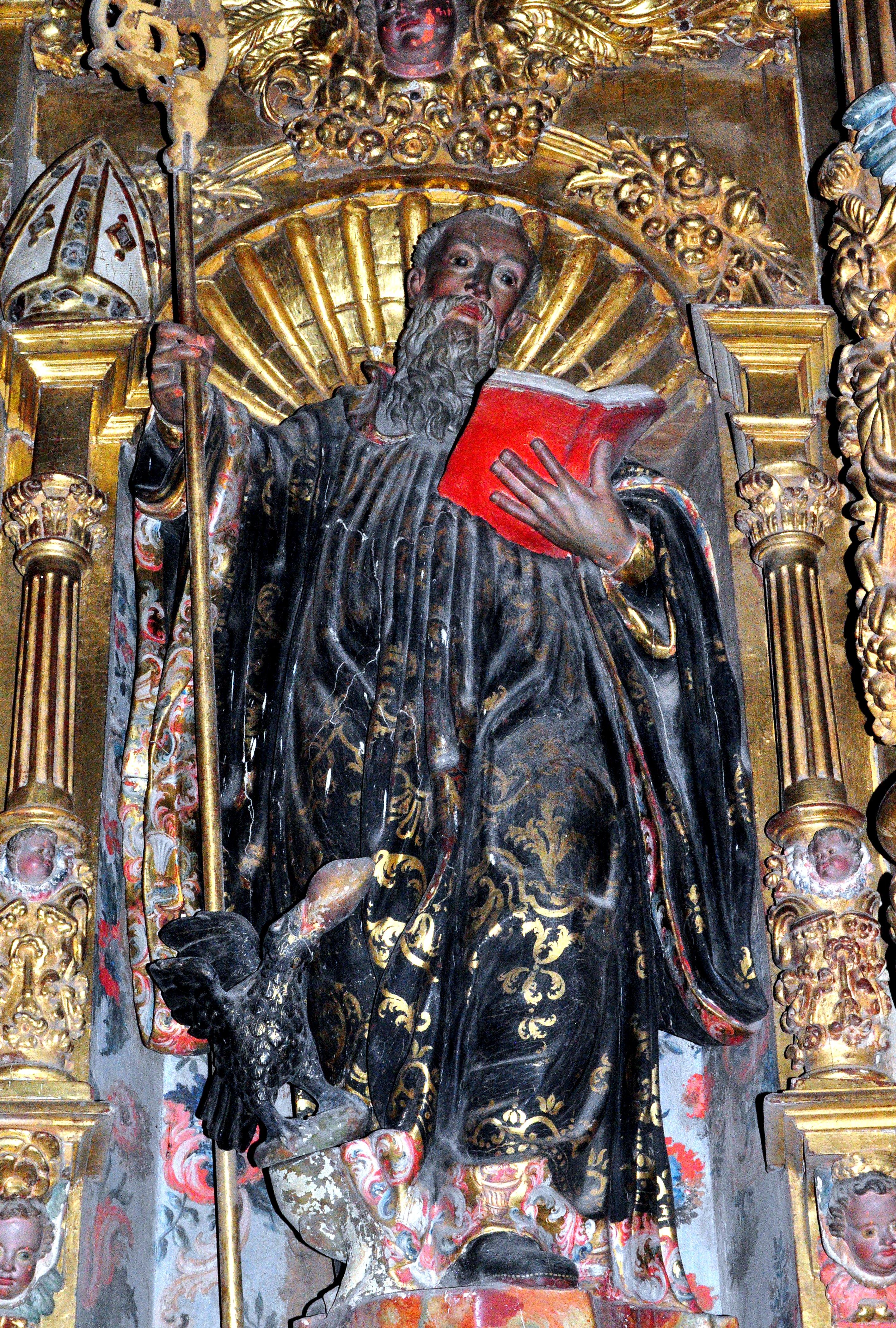 Imagen de San Benito, procedente del monasterio de Eslonza. (Foto David GL)