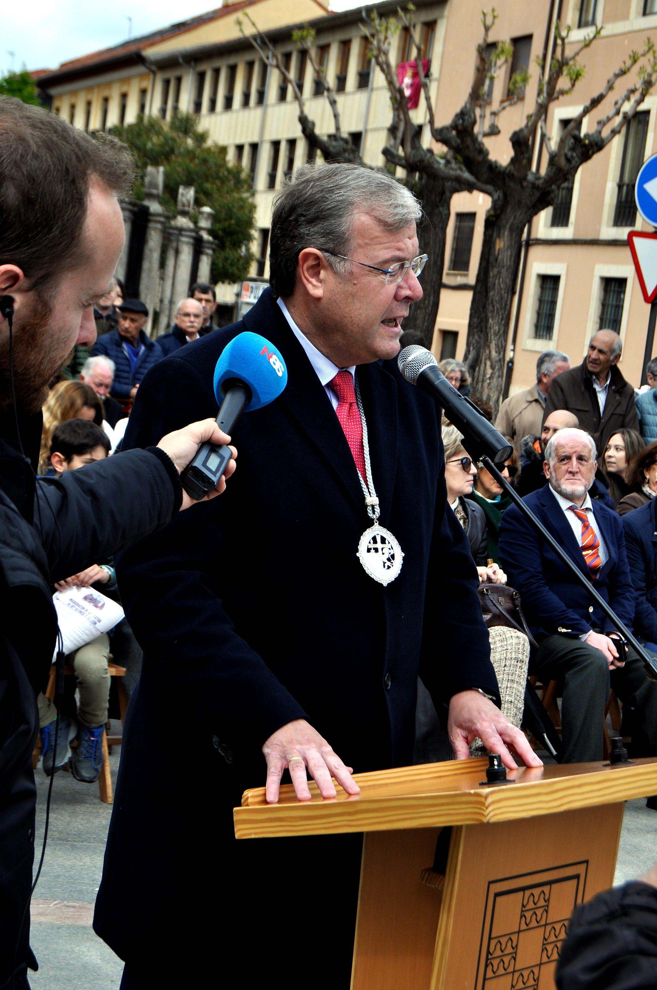El alcalde de León, Antonio Silván, cerró el acto.