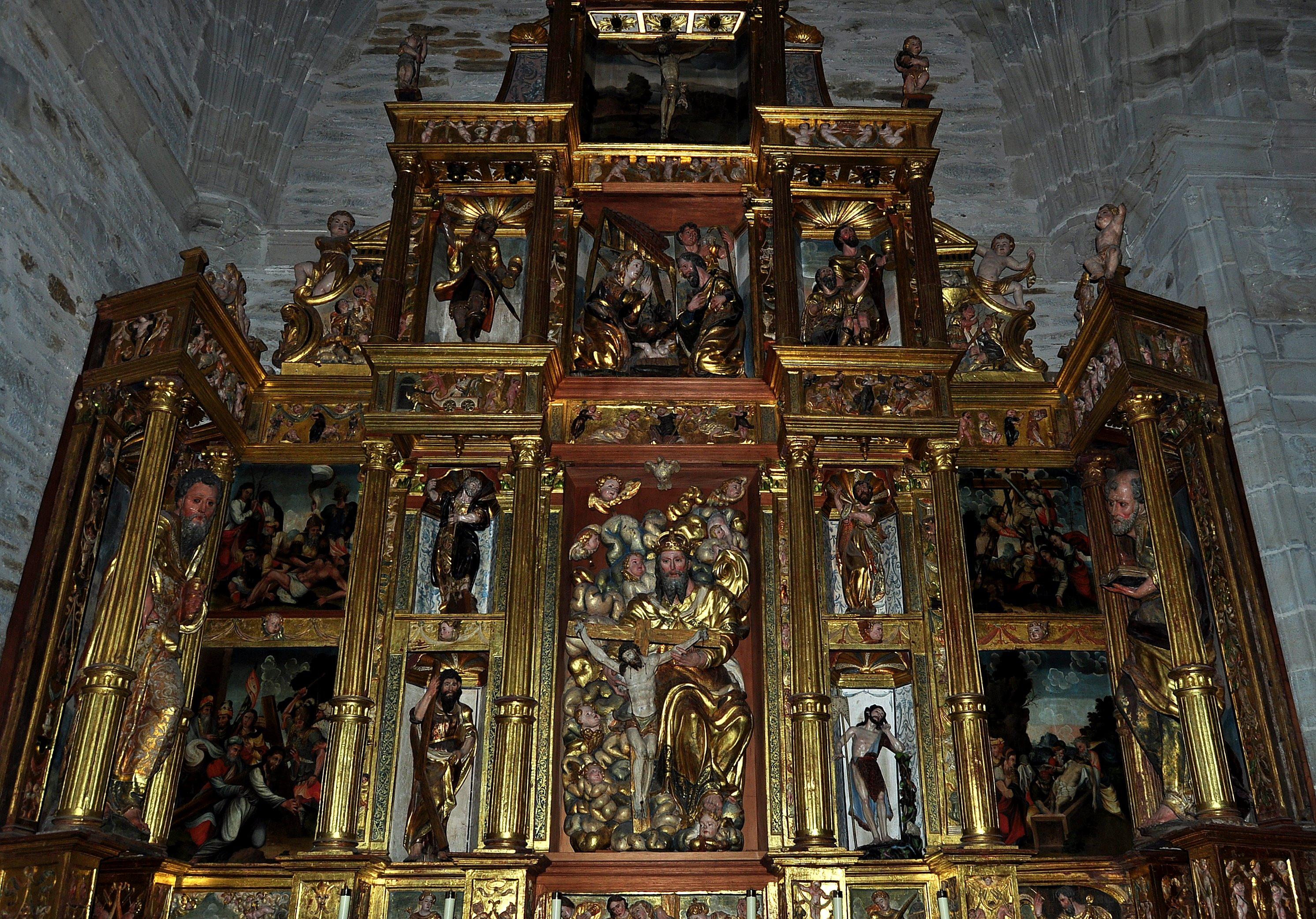 Villafranca. Colegiata cde Santa María. retablo de la Trinidad. S. XVI.