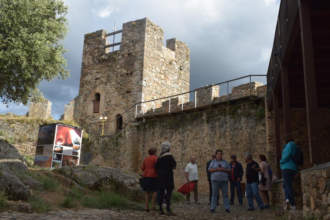 A la llegada al castillo.