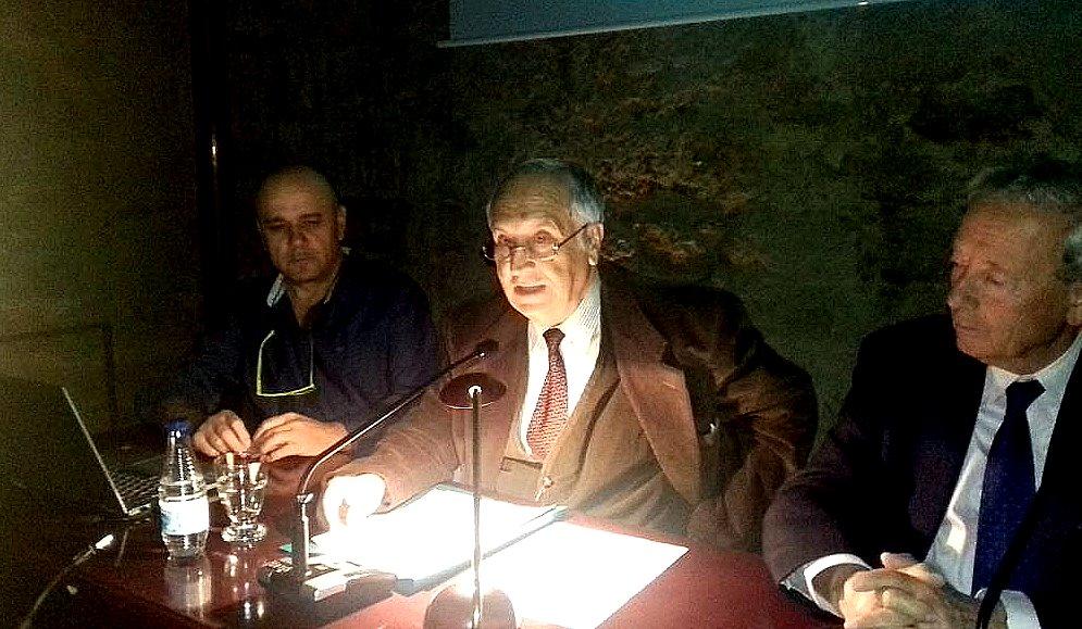 En la mesa, de derecha De derecha a izda. Marcelino Fernández, José Luis Gavilanes, Ramón