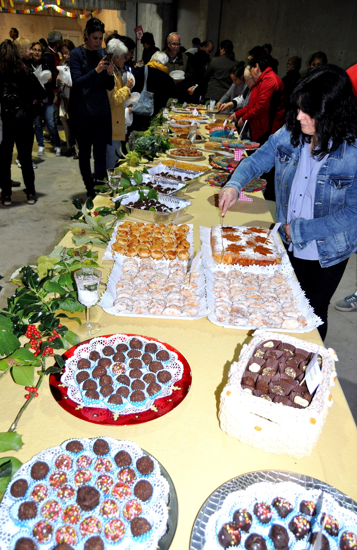 Demostración de dulces de castañas.