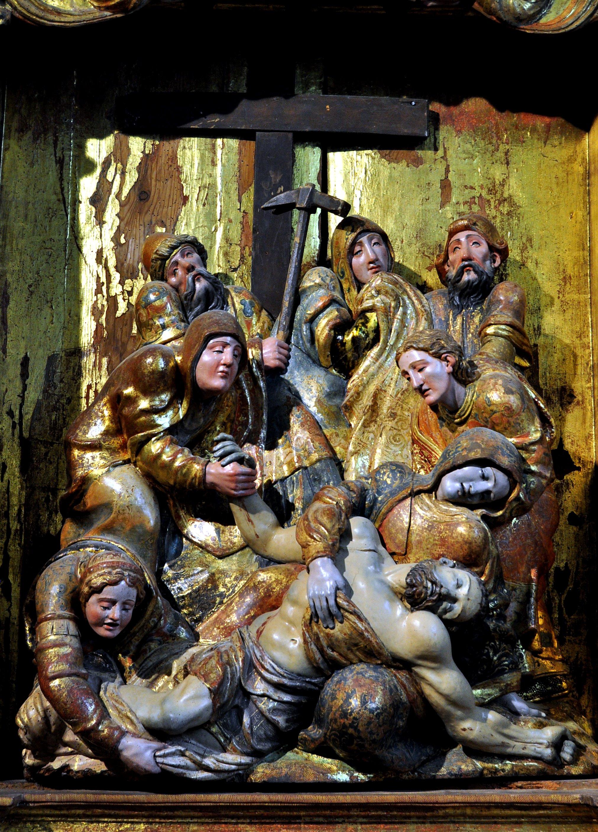 Descendimiento, grupo central del retablo de De la Maza