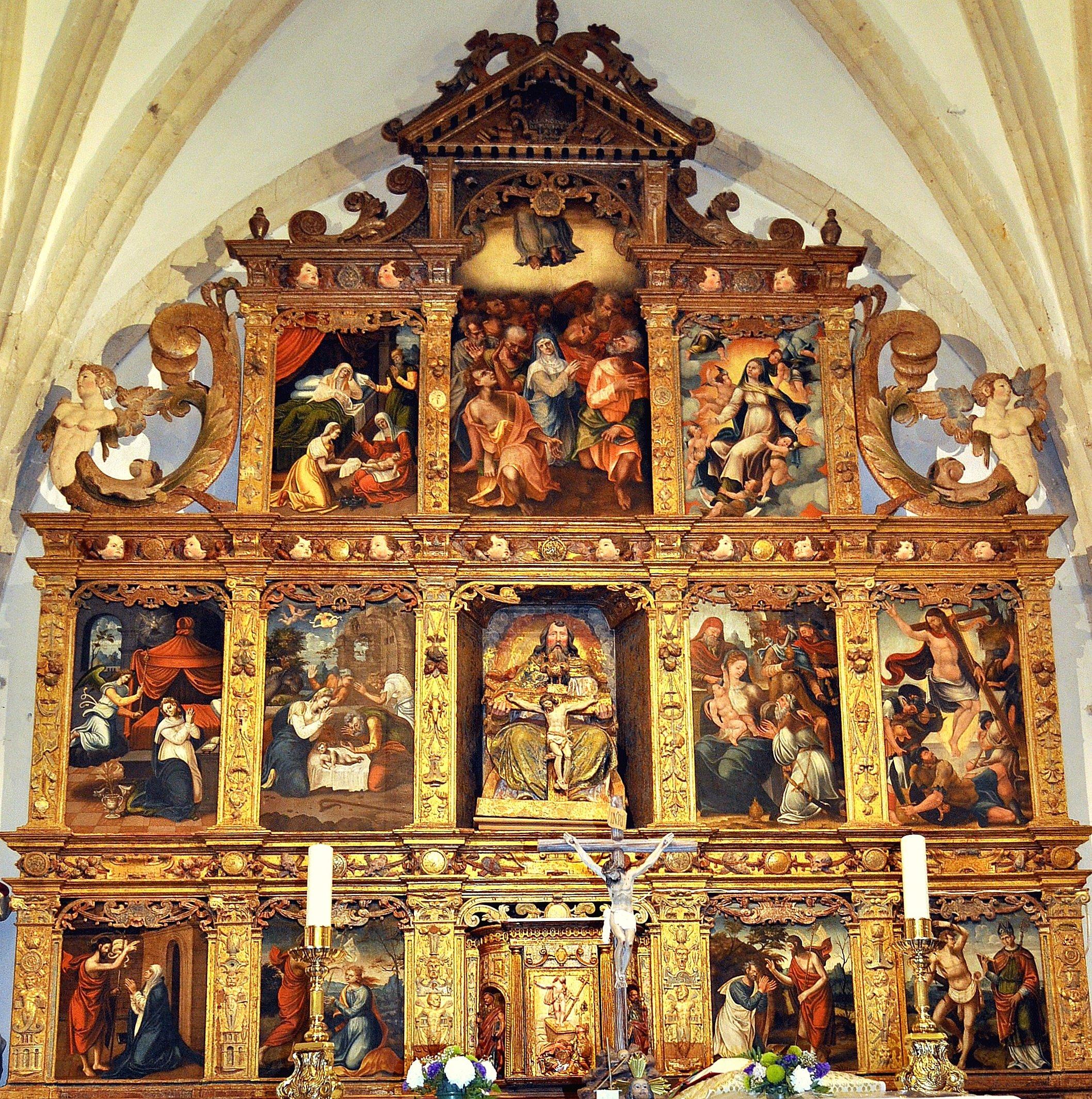 Yugueros. Retablo de Lorenzo de Ávila (hacia 1565)