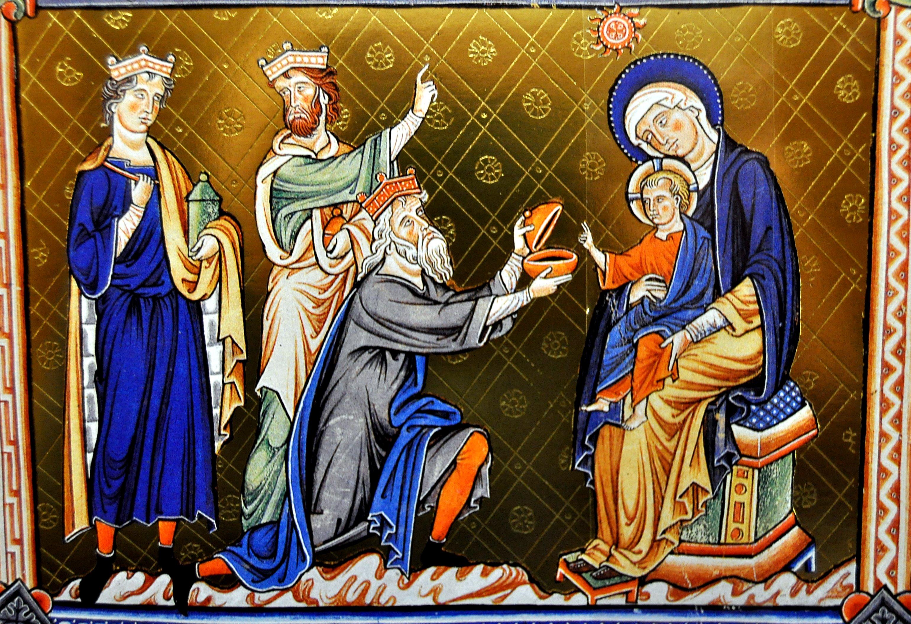 Ilustración del Salterio de Ingeborg (s. XII)