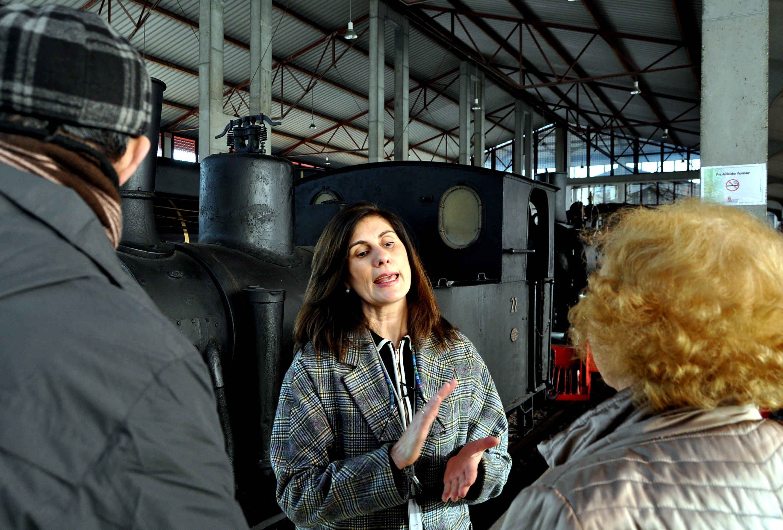 Visita al Museo del Ferrocarril de Ponferrada.