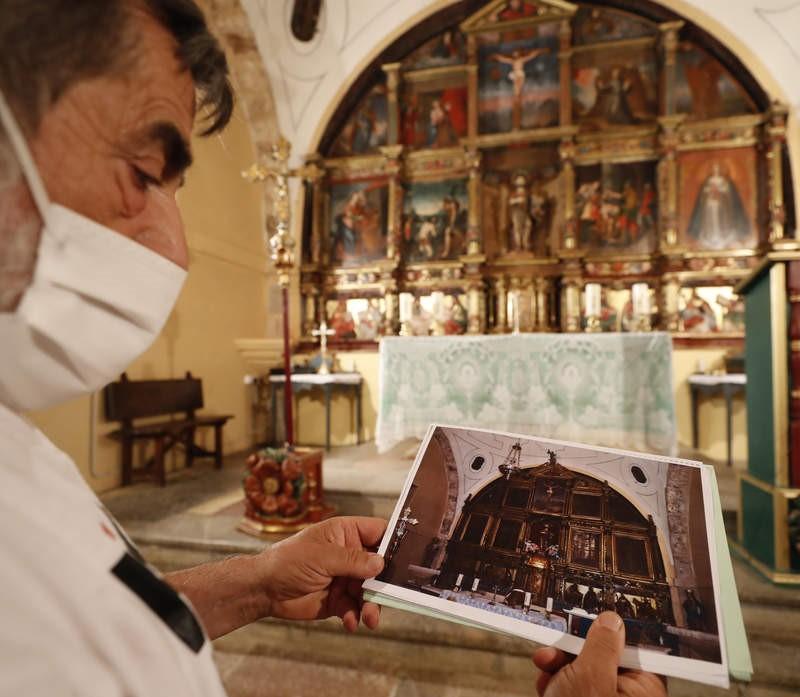 Campo y Santibáñez. Restauración retablo con dinero de un donante