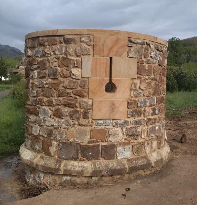 Cubo de muralla del palacio de Renedo de Valdetuéjar.