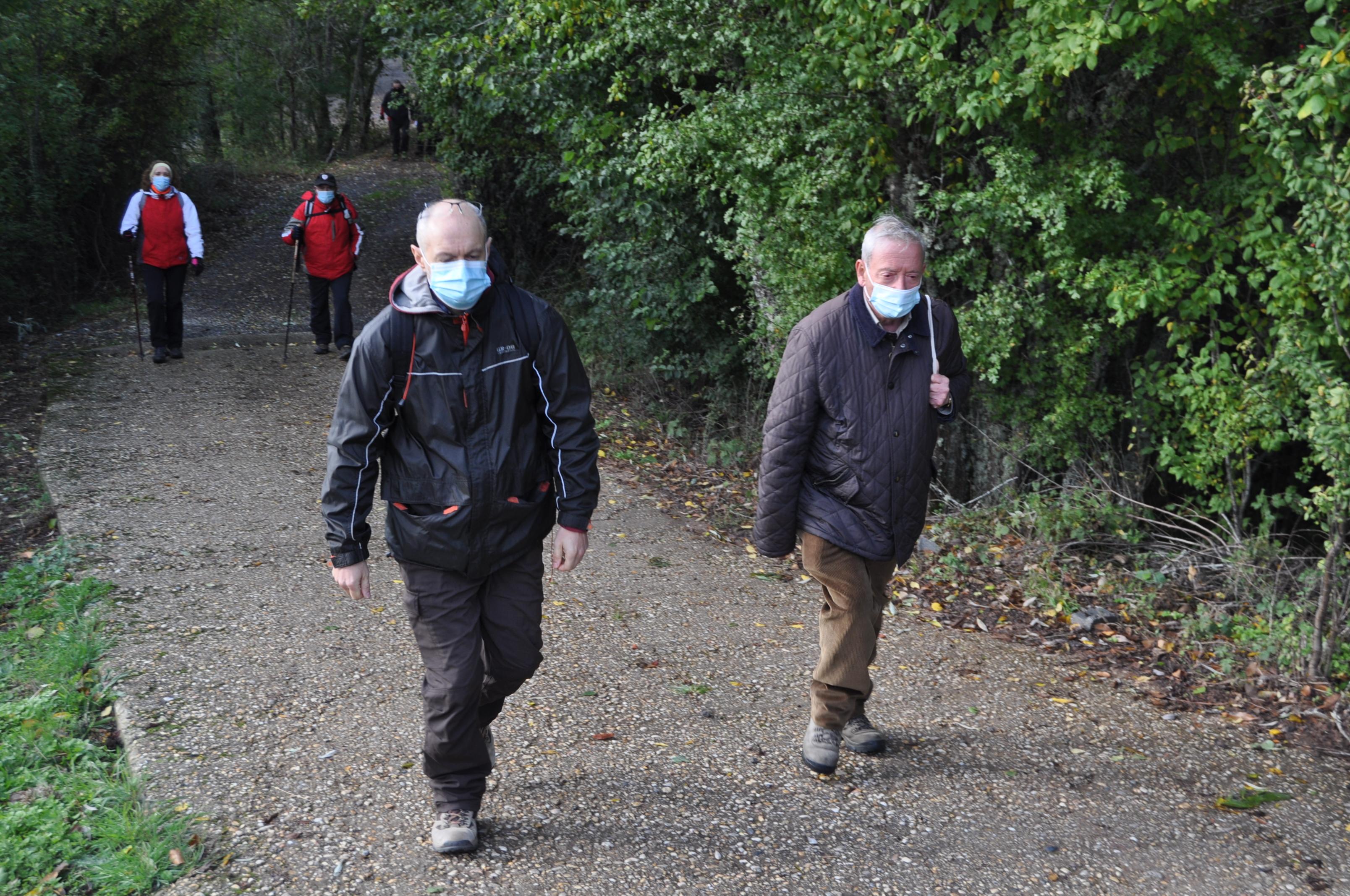 Presidente y Tesorero de Promonumernta Inician el camino hacia Peña Morquera (Foto David Gustavo López)